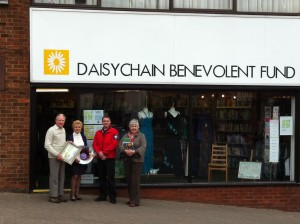 SARA Tewkesbury show support for Daisy Chain Shops